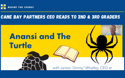 """Cane Bay Partners CEO Explores Lessons from """"Anansi and the Turtle"""" with 2nd & 3rd Graders"""